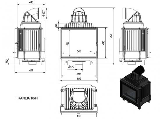 eek a gusskamineinsatz kratki franek 10 kw. Black Bedroom Furniture Sets. Home Design Ideas