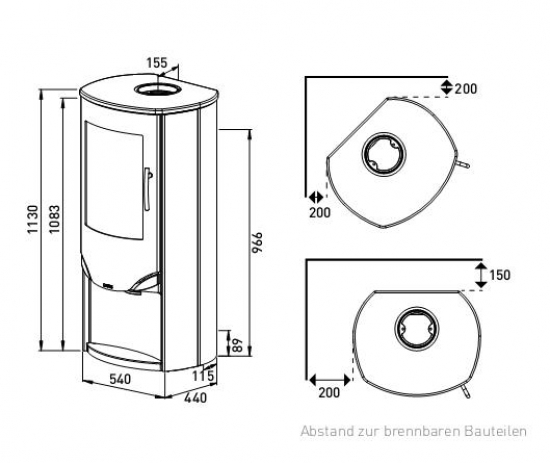 eek a kaminofen lotus prio 5 s schwarz speckstein 7 kw. Black Bedroom Furniture Sets. Home Design Ideas