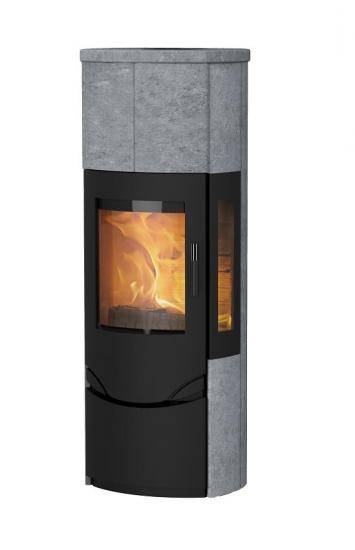 eek a kaminofen lotus prio m schwarz 3 scheiben speckstein 6 kw. Black Bedroom Furniture Sets. Home Design Ideas