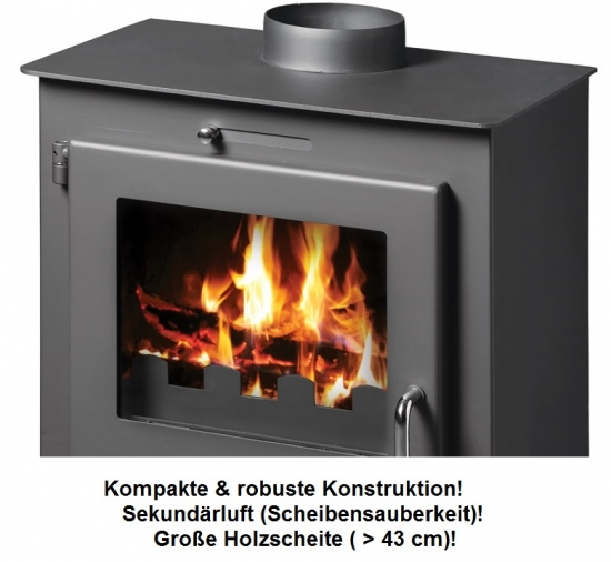 eek a kaminofen victoria bora lux 8 25kw kamin ofen werkstattofen ebay. Black Bedroom Furniture Sets. Home Design Ideas